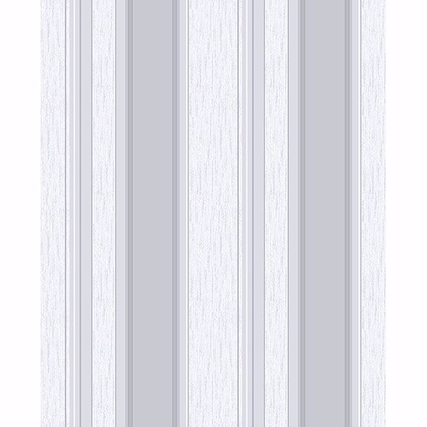 Picture of Mirabelle Silver Stripe Wallpaper