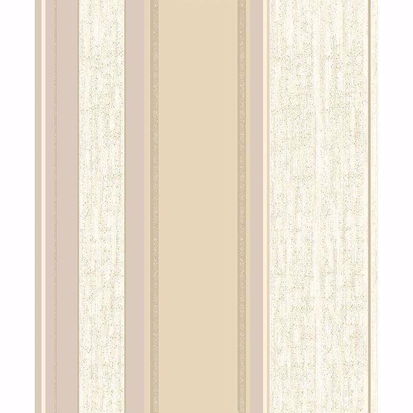 Picture of Mirabelle Cream Stripe Wallpaper
