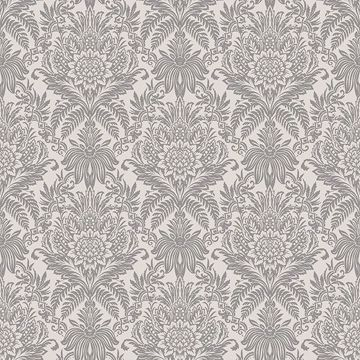 Picture of Bernadette Cream Damask Wallpaper