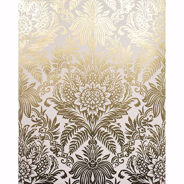 Picture of Bernadette Gold Damask Wallpaper