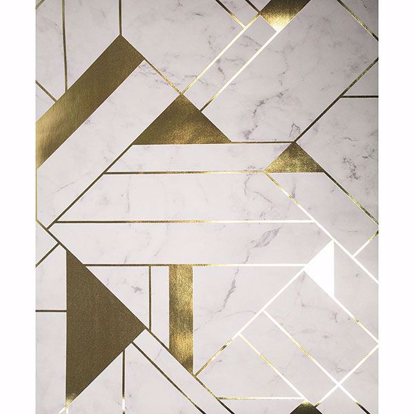 Picture of Gulliver Off-white Marble Geometric Wallpaper