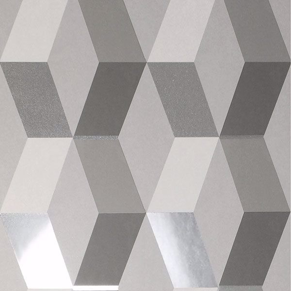Picture of Rochelle Grey Geometric Wallpaper