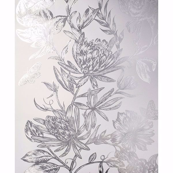 Picture of Marquis Grey Floral Wallpaper
