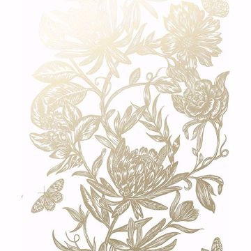 Picture of Marquis Gold Floral Wallpaper