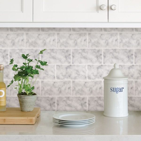 Picture of Subway Carrara Peel & Stick Backsplash