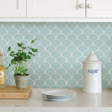 Picture of Shell Peel & Stick Backsplash