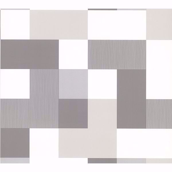 Picture of Laurence Grey Geometric Wallpaper