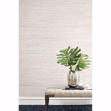 Picture of Baja Beige Faux Grasscloth Wallpaper