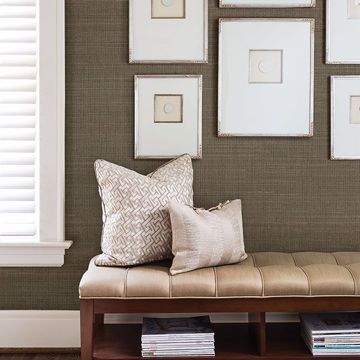 Picture of Nanking Brown Grasscloth Wallpaper