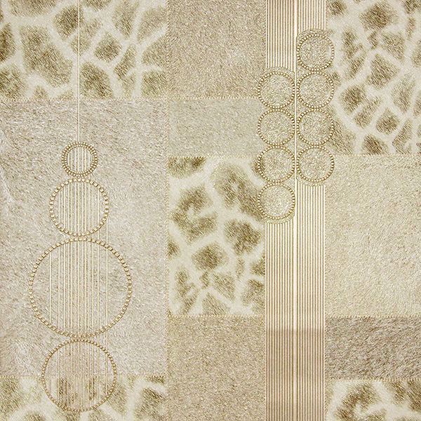 Picture of Serengeti Beige Patchwork Wallpaper