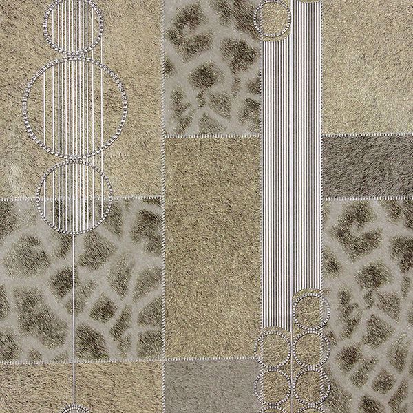 Picture of Serengeti Taupe Patchwork Wallpaper