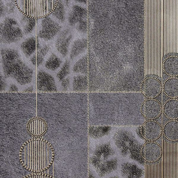Picture of Serengeti Grey Patchwork Wallpaper