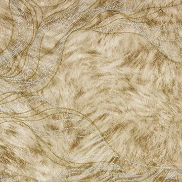 Picture of Abruzzo Beige Wolf Wave Wallpaper