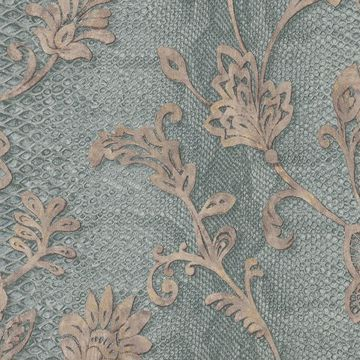 Picture of Puglia Teal Python Arabesque Wallpaper