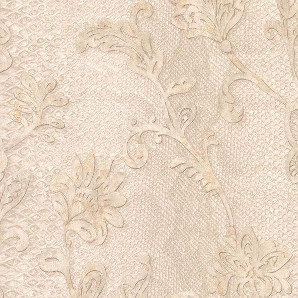 Picture of Puglia Cream Python Arabesque Wallpaper