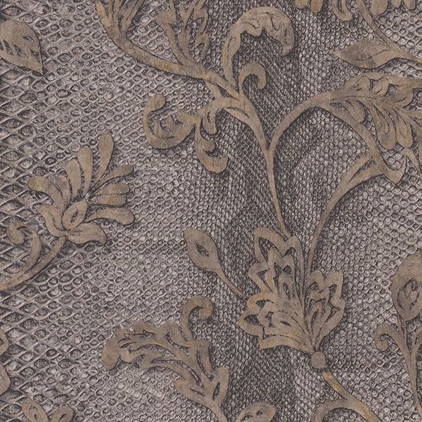 Picture of Puglia Chocolate Python Arabesque Wallpaper