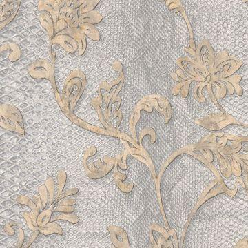 Picture of Puglia Light Grey Python Arabesque Wallpaper