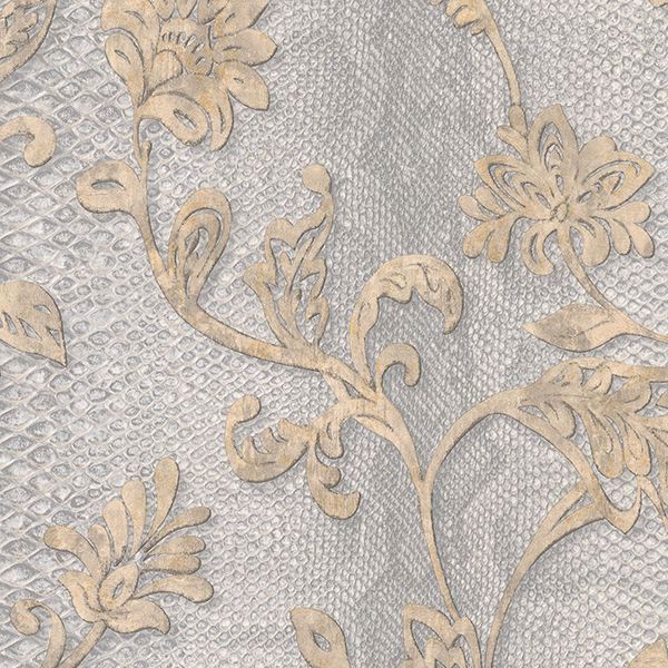 Picture of Puglia Light Grey Python Arabesque Wallpaper