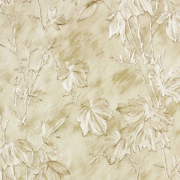 Picture of Portofino Cream Cow Leaves Wallpaper
