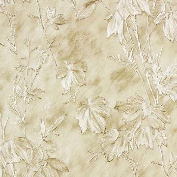 Picture of Portofino Cream Cow Leaves Wallpaper
