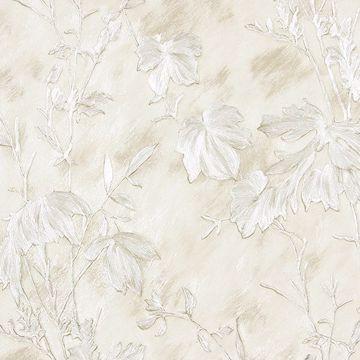 Picture of Portofino Off-White Cow Leaves Wallpaper
