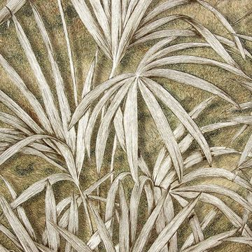 Picture of Veneto Brown Palm Tree Wallpaper