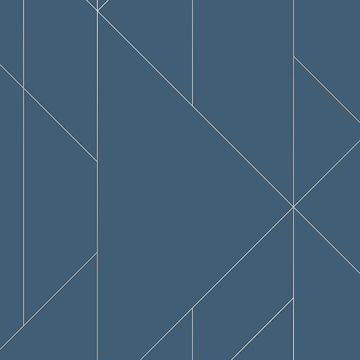Picture of Torpa Blue Geometric Wallpaper