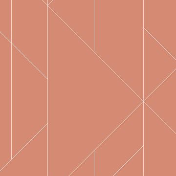 Picture of Torpa Coral Geometric Wallpaper