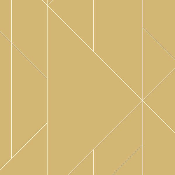 Picture of Torpa Mustard Geometric Wallpaper