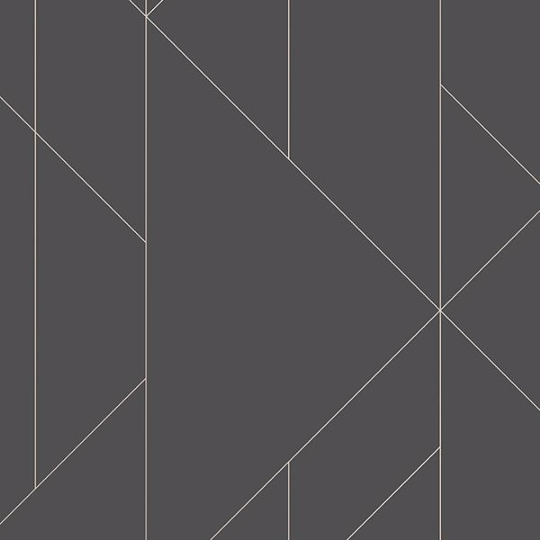 Picture of Torpa Charcoal Geometric Wallpaper