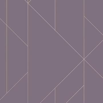 Picture of Torpa Purple Geometric Wallpaper