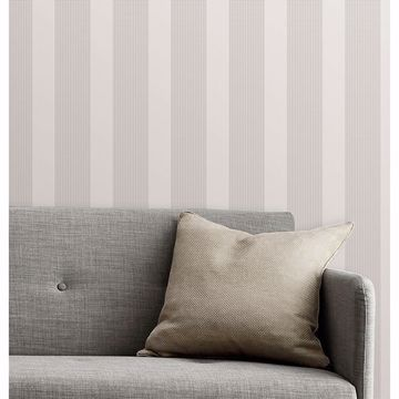 Picture of Visby Silver Stripe Wallpaper