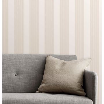 Picture of Visby Beige Stripe Wallpaper