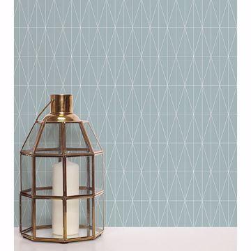 Picture of Tofta Light Blue Geometric Wallpaper