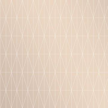 Picture of Tofta Beige Geometric Wallpaper