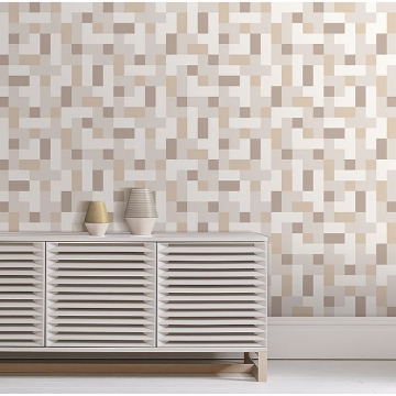 Picture of Alby Neutral Geometric Wallpaper