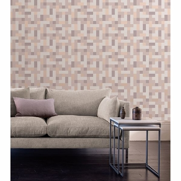 Picture of Alby Mauve Geometric Wallpaper