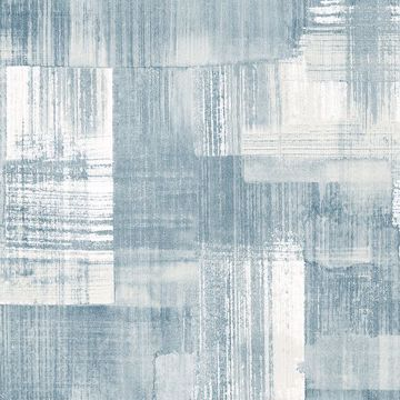 Picture of Trosa Teal Brushstroke Wallpaper