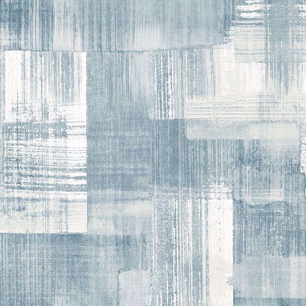 Picture of Trosa Teal Brushstroke Wallpaper