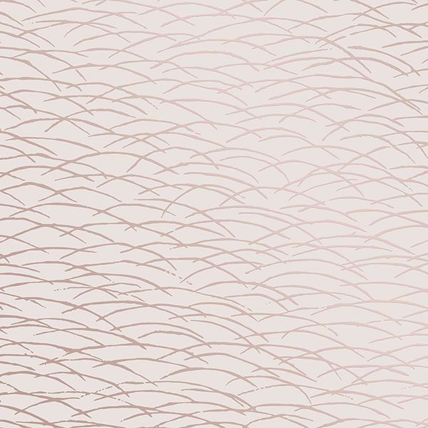 Picture of Hono Rose Gold Abstract Wave Wallpaper