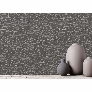 Picture of Hono Taupe Abstract Wave Wallpaper