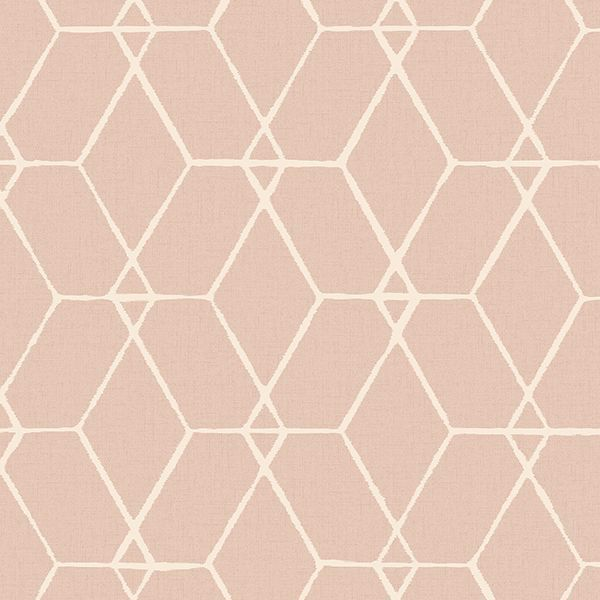 Picture of Osterlen Light Pink Trellis Wallpaper