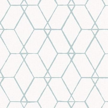 Picture of Osterlen Teal Trellis Wallpaper