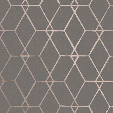 Picture of Osterlen Taupe Trellis Wallpaper