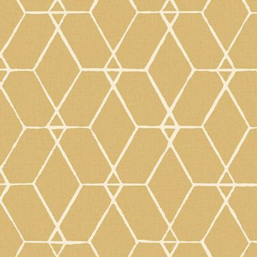 Picture of Osterlen Yellow Trellis Wallpaper