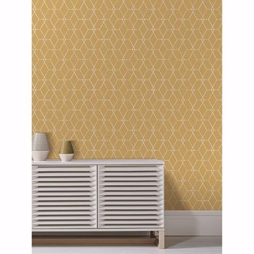 Picture of Osterlen Yellow Trellis Wallpaper
