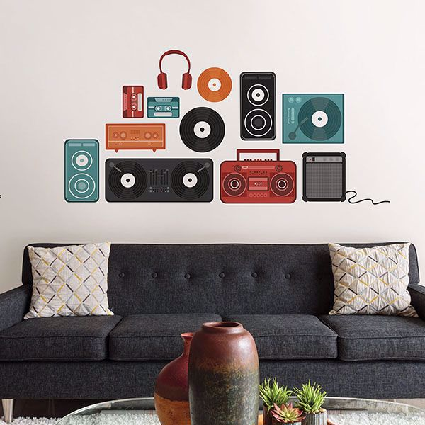 Picture of Retro Beats Wall Art Kit