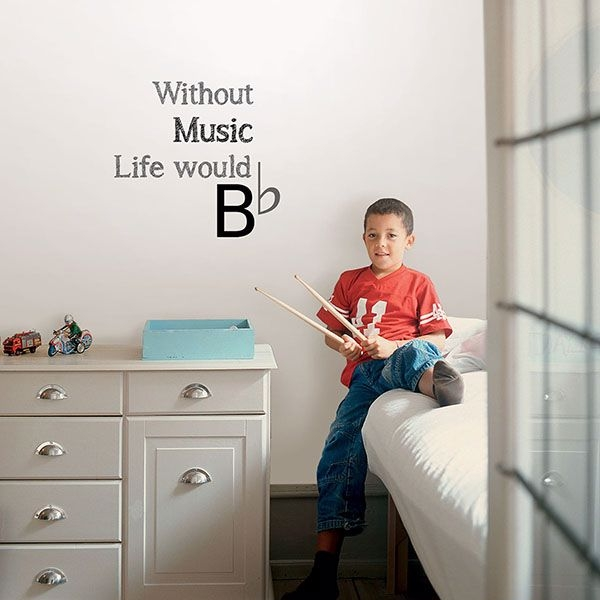 Picture of Life Without Music Wall Quote Decals