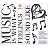 Picture of Feeling Music Wall Quote Decals