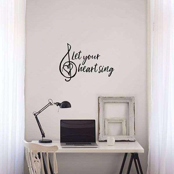 Picture of Heart Sing Wall Quote Decals